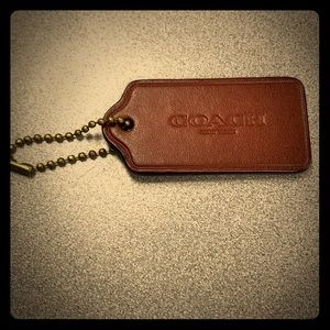 Genuine coach leather key chain. Bag strap chain.